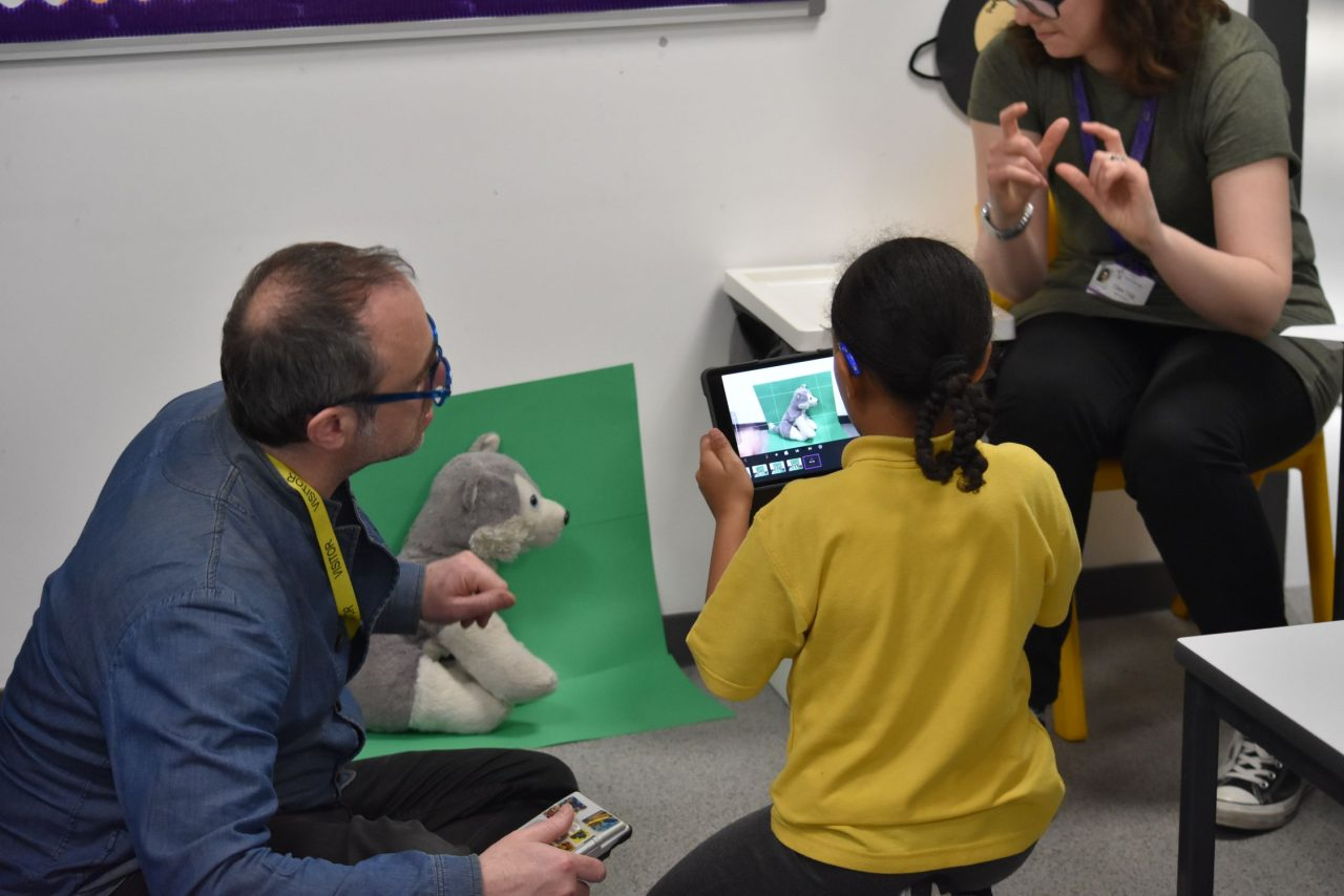 Eva and Rowland at Frank Barnes School for Deaf Children